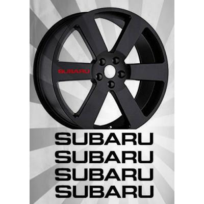 4x  4'' Subaru Rim  Décalque Vinyle Achetez en 2 Recevez 3ieme Gratuit