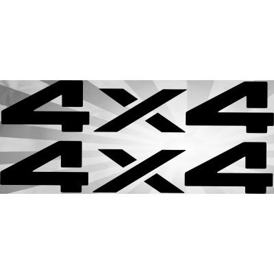 2x  9'' 4X4  Décalque Vinyle