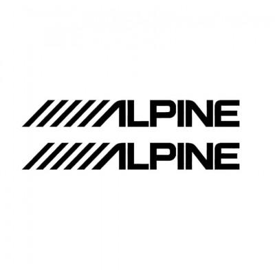 """2x 6"""" Alpine Vinyl Decal Décalque Vinyle"""