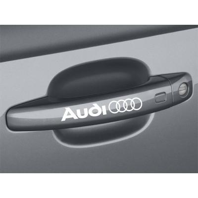 4X  Audi Rings Door Handle Décalque Vinyle Achetez en 2 Recevez 3ieme Gratuit