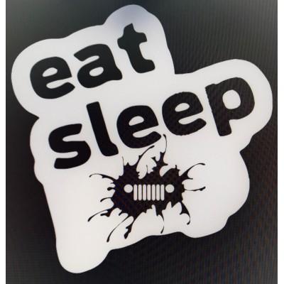 f4363a6f70e1 4   Eat Sleep Jeep Vinyl Decal Buy 2 get 3rd Free