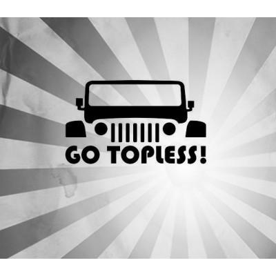 4'' JDM Jeep Topless Décalque Vinyle