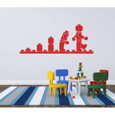 20''  Autocollant Murale  Lego Evolution  Décalque Vinyle