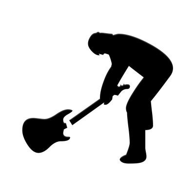 4''   Rock Band Guitar Vinyle Achetez en 2 Recevez 3ieme Gratuit