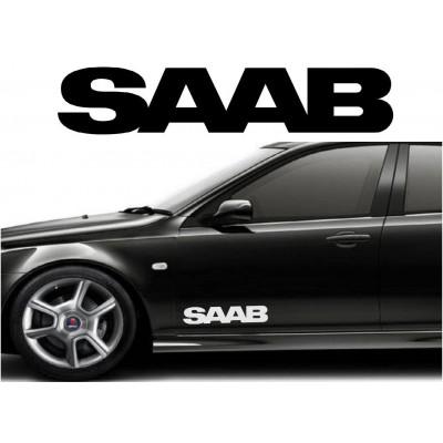 2X 12'' SAAB Décalque Vinyle Achetez en 2 Recevez 3ieme Gratuit