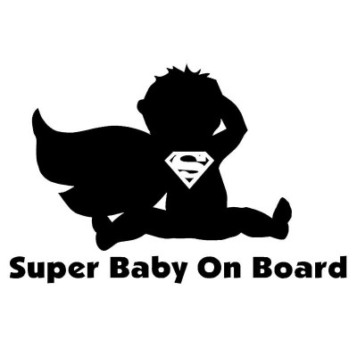 "4"" Superman  Baby On Board  Vinyl Decal Buy 2 get 3rd Free"