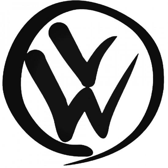 """4"""" Volkswagen Vinyl Decal Buy 2 get 3rd Free"""