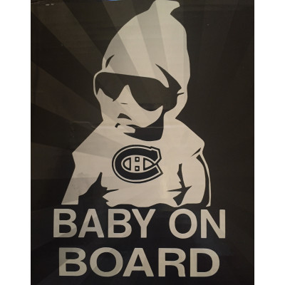 6'' Montreal Canadiens Baby on Board Buy 2 Get 3rd Free