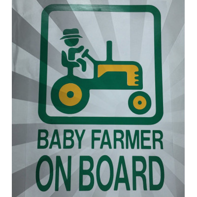 6'' Baby Farmer on Board Vinyl Decal Buy 2 Get 3rd Free