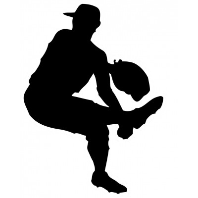4''  Baseball Pitcher Vinyle Achetez en 2 Recevez 3ieme Gratuit