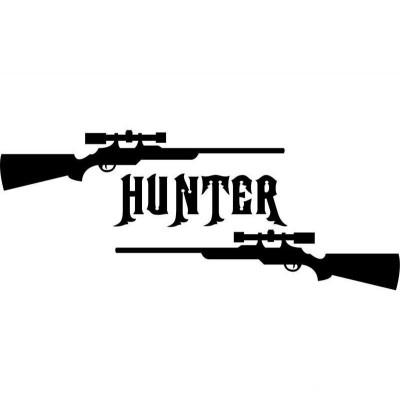 4''  Hunter Décalque Vinyle Achetez en 2 Recevez 3ieme Gratuit