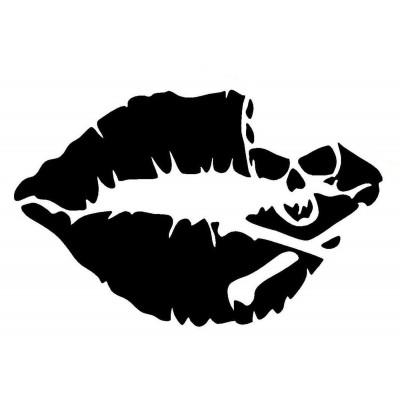 4''  Lèvre Décalque Vinyle Achetez en 2 Recevez 3ieme Gratuit