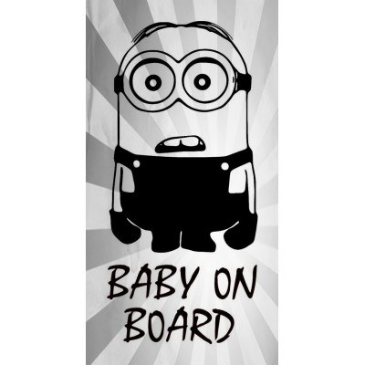 6'' Baby on Board Minion Buy 2 Get 3rd Free