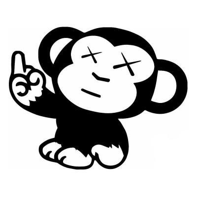 4'' JDM  Naughty Monkey Décalque Vinyle Achetez en 2 Recevez 3ieme Gratuit