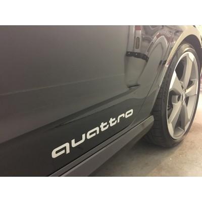 2x  9'' Audi Quattro Décalque Vinyle Achetez en 2 Recevez 3ieme Gratuit