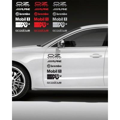 6x  9'' Racing Sponsors Logo Sport  Décalque Vinyle Achetez en 2 Recevez 3ieme Gratuit