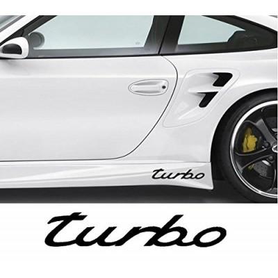 2x  9'' Porsche Turbo Décalque Vinyle