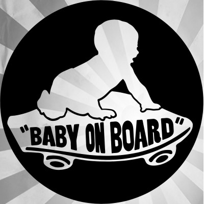 "4"" Vans Baby On Board  Vinyl Decal Buy 2 get 3rd Free"