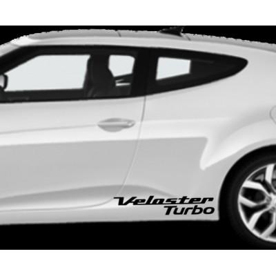 2X  10'' Hyundai Veloster Turbo Vinyl Decal Buy 2 get 3rd Free